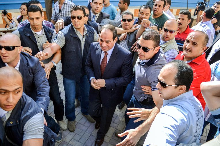 Abdul Fatah al Sisi, president van Egypte. Beeld AFP