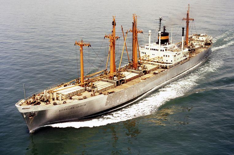 De Schelde Lloyd, het schip waarop Eddy Korwa dankzij zijn Nederlandse penvriend naar Nederland kon vluchten Beeld KRL-museum
