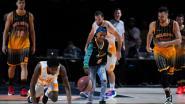 Kankerpatiëntje Sidy Angillis (9) ster van de avond op All Star Game
