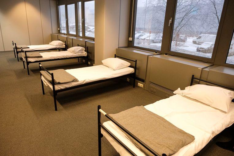 Slaapzaaltje van daklozenopvang in Haren