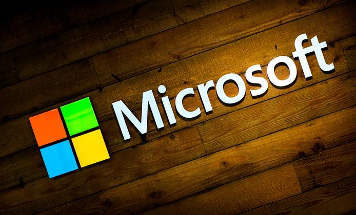 Het logo van Microsoft.