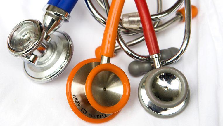 Stethoscopen bij een huisartsenpraktijk. Foto ANP Beeld