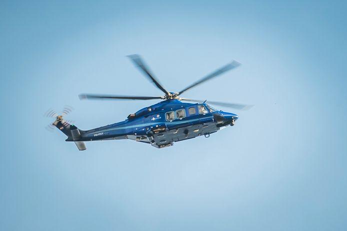 Een politiehelikopter.
