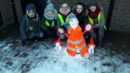 De meest verkeersveilige sneeuwman staat bij De Droomvlieger