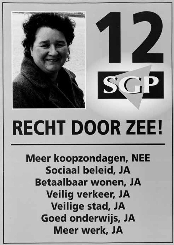 Lilian Janse was in 2014 de eerste vrouwelijke lijsttrekker voor de SGP bij de gemeenteraadsverkiezingen in Vlissingen. Beeld rv
