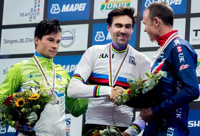In het Noorse Bergen werd Tom Dumoulin afgelopen jaar wereldkampioen tijdrijden.