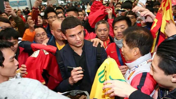 Elkeson was zelfs bij zijn vertrek uit Guangzhou immens populair bij fans van de club.