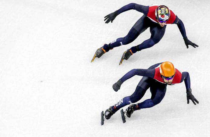 Daan Breeuwsma (boven) en Sjinkie Knegt.