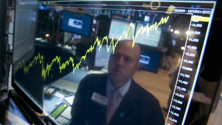 Archiefbeeld: Dow Jones Index, New York Stock Exchange.