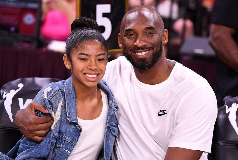 Gianna met haar papa Kobe Bryant.