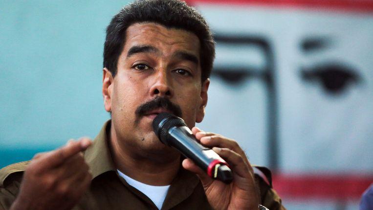 De Venezolaanse president Nicolas Maduro. Beeld belga