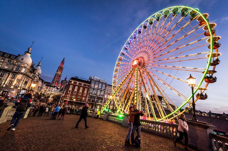 Het reuzenrad tijdens Winter in Antwerpen.