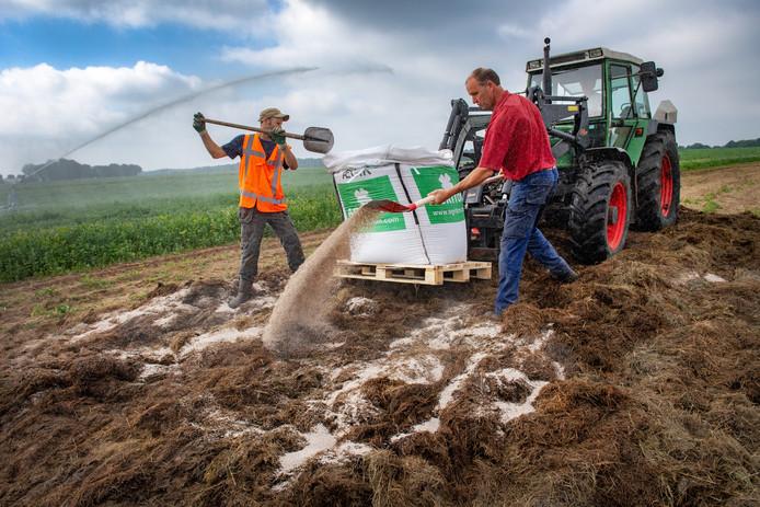 Het maaisel wordt omgezet tot een bodemverbeteraar.