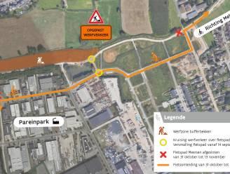 Fietsers moeten omrijden voor werken aan bufferbekken in Pareinpark, eerste planning klaar voor heraanleg N70