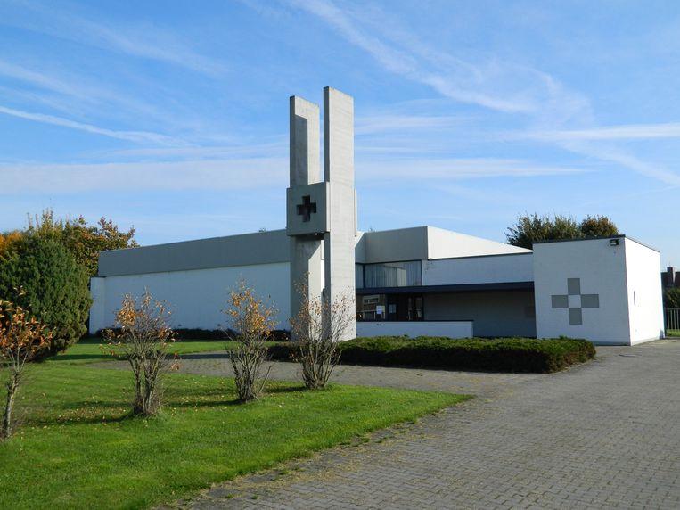 Een archiefbeeld van de kerk in de wijk Sint-Jozef in Eeklo. Die werd pas in 1974 gebouwd.