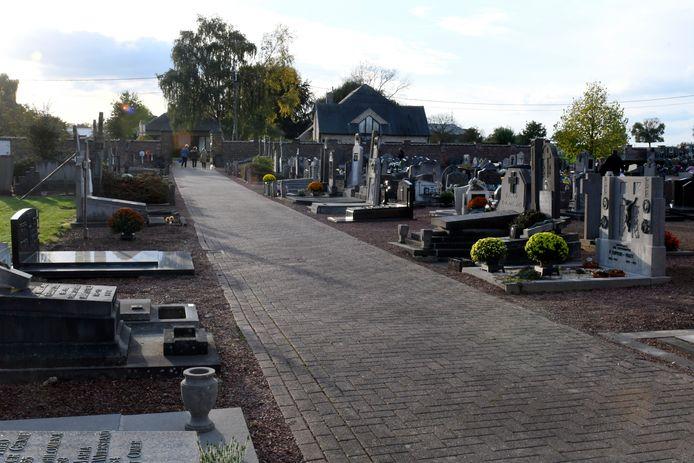 De begraafplaats van Iddergem.