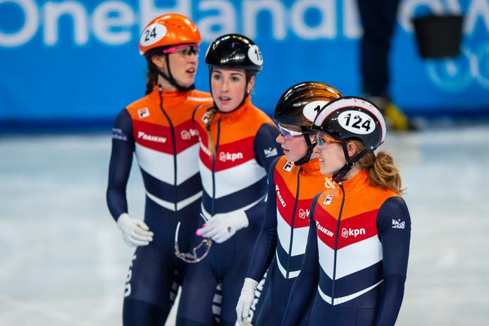 Suzanne Schulting, Lara van Ruijven, Yara van Kerkhof en Rianne de Vries.