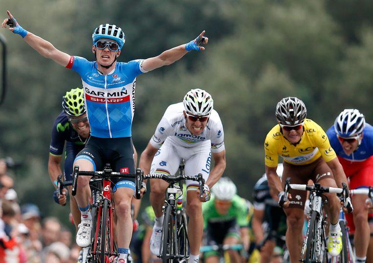 Tom Jelte Slagter won vorig jaar twee etappes in Parijs-Nice. Beeld reuters