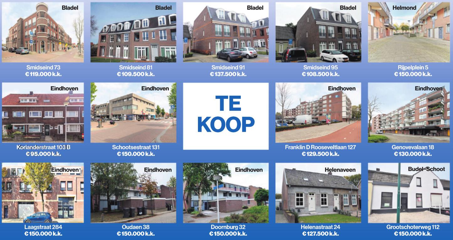 In 21 gemeenten in de regio Zuidoost-Brabant stonden eind november 14 huizen en appartementen te koop in de prijsklasse tot 150.000 euro.