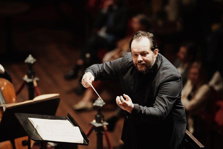 Andris Nelsons dirigeert het Concertgebouworkest op 26 augustus. Beeld K2 Milagro Elstak