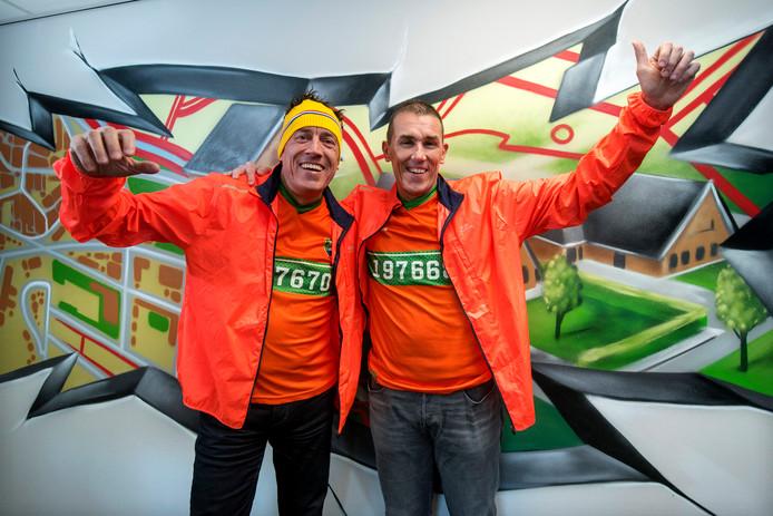 Ted (l) en Michiel Huberts gaan naar Zuid-Korea.