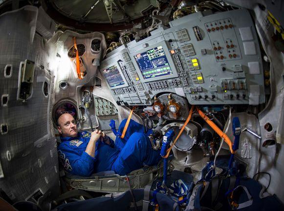 Scott Kelly bracht een jaar in het ISS door.