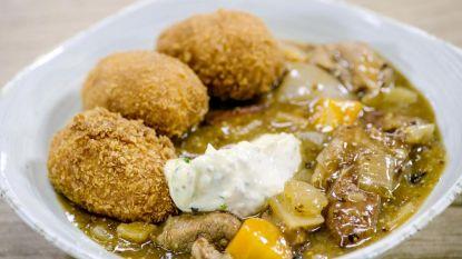 Vlaamse kost! Loïc maakt stoofvlees met kroketten