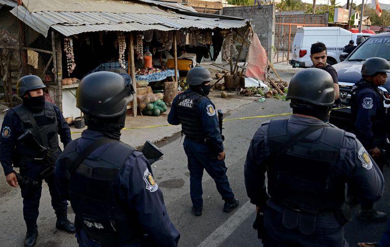 Mexicaanse politieagenten in Acapulco, in de staat Guerrero. Archieffoto.