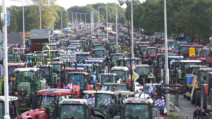 Protest in De Bilt op 16 oktober 2019.