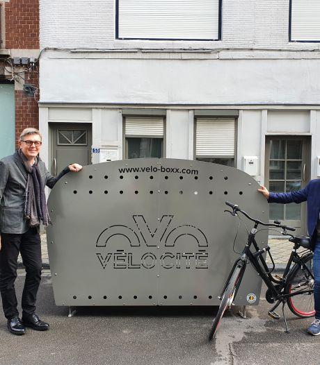 Les premiers box pour stationner son vélo en toute sécurité arrivent à Liège