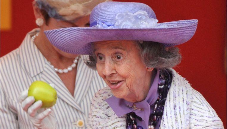 Vorig jaar haalde de kranige koningin een appel boven.