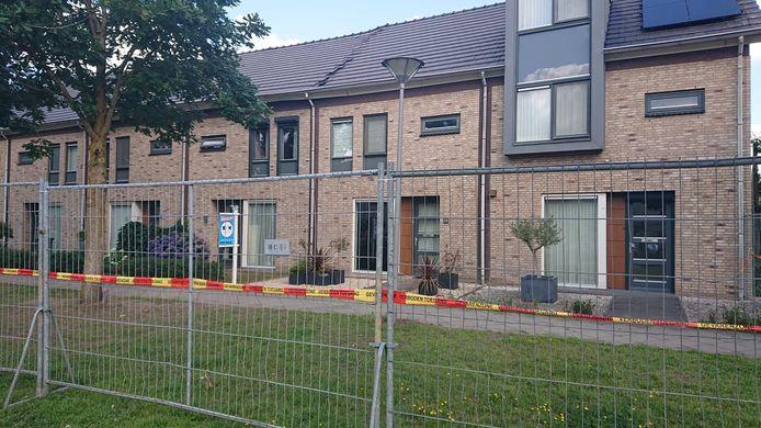 De Biezenloop in Heesch, waar zeven woningen waren ontruimd vanwege instortingsgevaar.