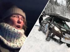 Zussen vast in de sneeuw tijdens Noordkaap Challenge