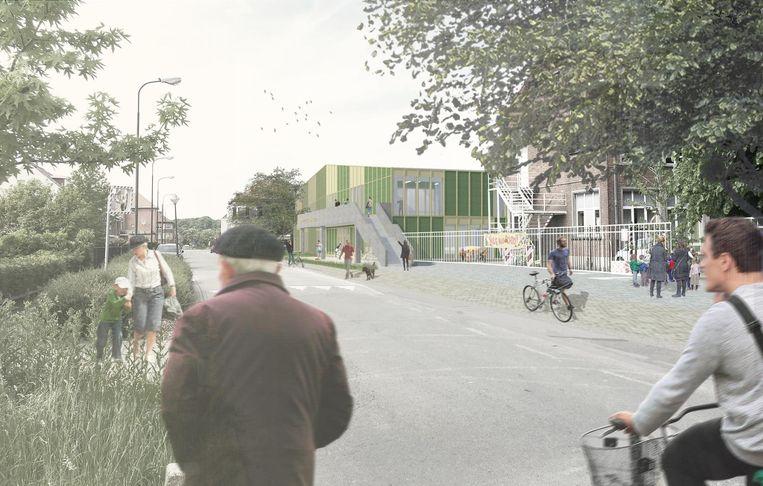 Een toekomstbeeld van het nieuwe sport- en cultuurcentrum.