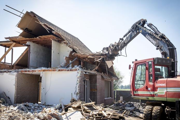 De met pur geïsoleerde woning van de familie Keijzer aan de Hoffmansweg werd in juli vorig jaar met de grond gelijk gemaakt.