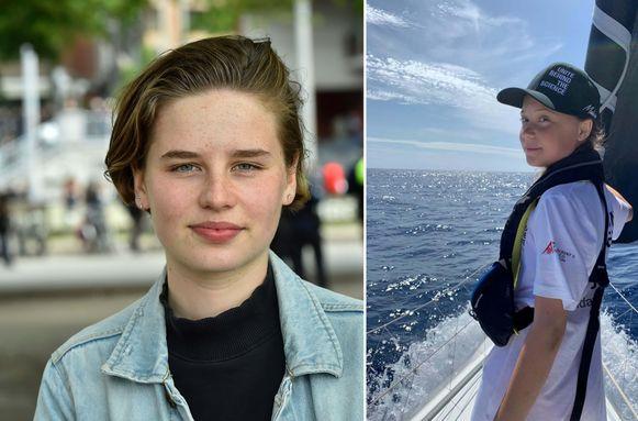 Anuna De Wever (L) treedt in de voetsporen van Greta Thunberg (R) en vertrekt in oktober met de zeilboot richting Chili om daar de klimaatconferentie bij te wonen.