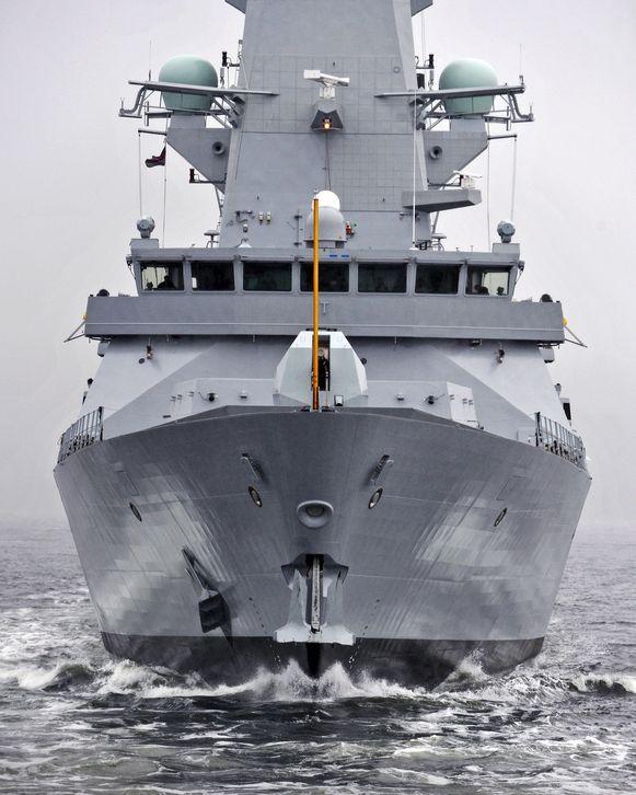 De Britse oorlogsbodem HMS Montrose die in de Straat van Hormuz patrouilleert, kon vrijdag niet voorkomen dat de tanker Stena Impero in beslag werd genomen door Iran.