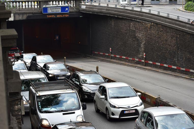 Het ongeval zorgde voor verkeershinder.