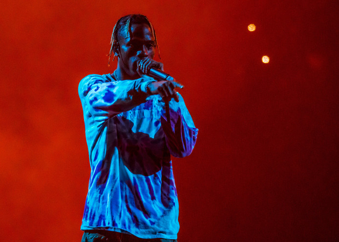 Rapper Travis Scott performs during his Astroworld Tour at Little Caesars Arena on December 5.