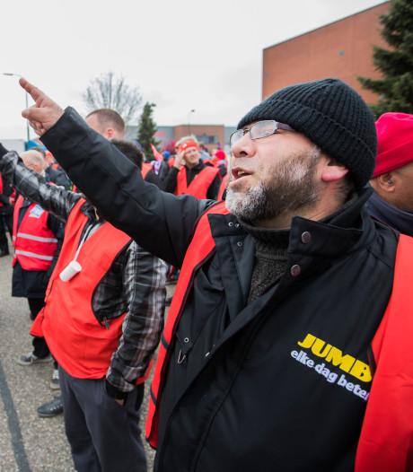 Medewerkers Jumbo staken maandag opnieuw voor rechtszaak over 'stakingsbreuk'