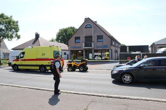 De quad-bestuurder reed in op zijn voorligger aan de brand.