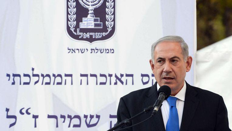De Israëlische premier Benjamin Netanjahoe. Beeld getty
