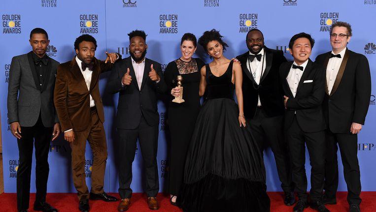 De cast van Atlanta. Beeld Jordan Strauss/Invision/AP