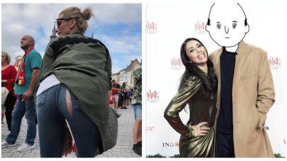 SHOWBITS: Griet Vanhees scheurt haar broek en Danira showt haar nieuwe 'vriend'