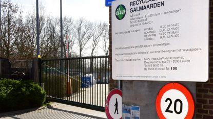 Extra maatregelen voor bezoek aan containerpark