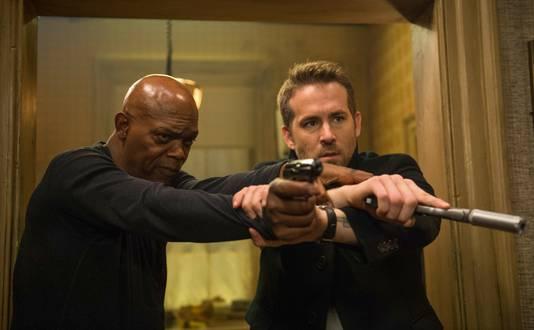 Samuel L. Jackson samen met Ryan Reynolds in de nieuwe film 'The Hitman's Bodyguard'