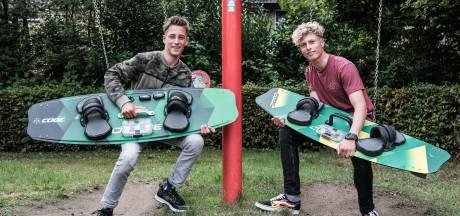 Broertjes Jamie en Sean, kitesurfkanjers uit Ulft die tot de wereldtop behoren