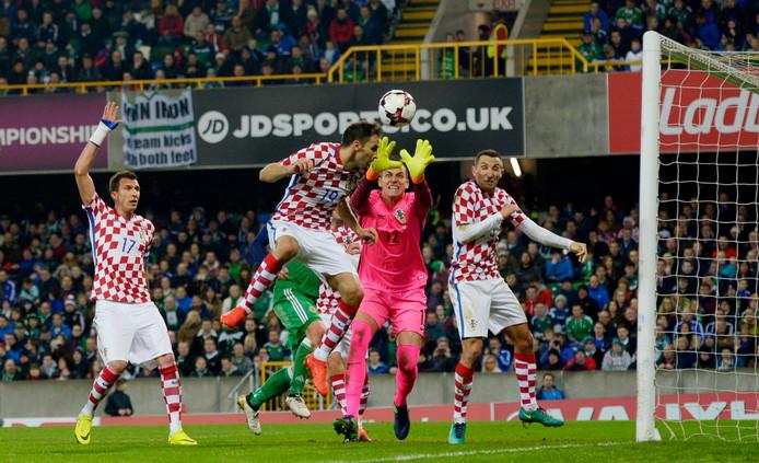 Noord-Ierland kon het de Kroaten op Windsor Park niet lastig maken.