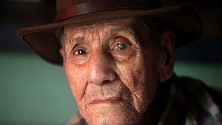 De 110-jarige Nicaraguaan Hector Gaitan Beeld null