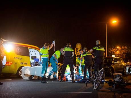 Doorgereden auto heftig ongeluk 5 Meiplein zwaar beschadigd teruggevonden